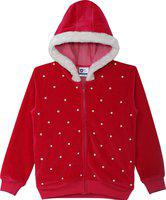612 League Full Sleeve Embellished Girls Jacket