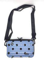 X Y SHOP Blue, Black Sling Bag