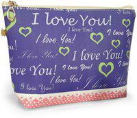 TIED RIBBONS Women's Leather Purple Jewellery Organizer Vanity Bag Travel Toiletry Kit(Purple)
