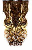 Confidence Wavy Extension For Girls And Women Use For Party And Wedding Styling,Golden And Brown ,Pack 1 Hair Extension