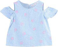 Beebay Baby Girls Casual Pure Cotton Top(Blue, Pack of 1)