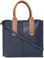 DressBerry Navy Blue Solid Handheld Bag