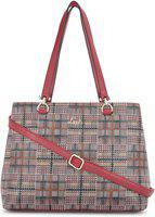 Lavie Multicoloured Checked Shoulder Bag