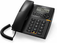 Alcatel T-58 Corded Landline Phone with Caller ID and Speaker Corded Landline Phone Corded Landline Phone(Black)