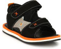Tuskey Boys Velcro Strappy Sandals(Black)