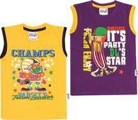 Dongli Vest For Boys Cotton(Multicolor, Pack of 2)