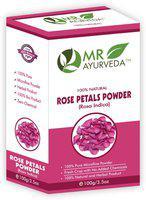 MR Ayurveda 100% Organic Rose Petals Powder(100 g)