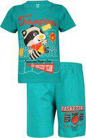 Dongli Kids Nightwear Boys Printed Cotton Jersey(Multicolor Pack of 1)