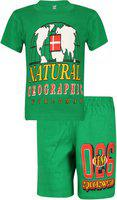 dongli Boys Full Sleeve Cotton Round Neck Tshirt with bio wash (Pack of 1). Green