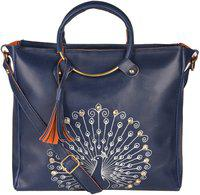 Don Cavalli Women Blue Messenger Bag