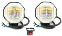 AutoPowerz Fog Lamp LED(Universal For Bike, Universal For Car, Pack of 3)