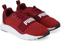 Puma Boys & Girls Lace Sneakers(Maroon)