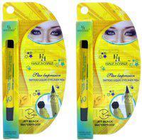Half N Half Hi-Tech - Eyeliner Waterproof pack of 2 36 g(Black)