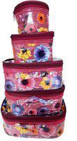 RK Brands Designer Vanity Kit (Set of 5pc) Travel Toiletry Kit(Red)