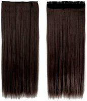 Param 5 Clip based Synthetic Extension Brown Color-24 inches / Extension For Women Hair Extension