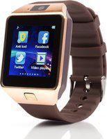 Mindsart DZ09 Golden 4G smartwatch with Bluetooth Smartwatch(Brown Strap, Free)