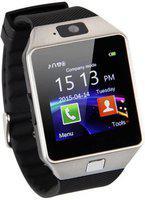 Mindsart DZ09 Silver 4G smartwatch with Bluetooth Smartwatch(Black Strap, 1.54)