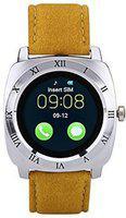 LOPAZ Smart Watch for All Smartphones Smartwatch(Beige Strap, Free Size)