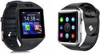 mobifox Smartwatch with Sim&Tf Slot Black,silver Smartwatch(Black, Silver Strap, free size)