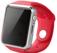 mobifox A1 SMARTWATCH WITH LONG BATTERY LIFE Smartwatch(Red Strap, free size)
