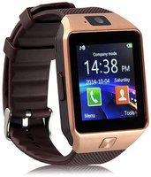 LOPAZ Q18 SMARTWATCH WITH CALL FUNCTION Smartwatch(Gold Strap, Free Size)