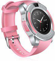 Mindfied Bluetooth Smartwatch with Sim Card Smartwatch(Pink Strap, Regular)