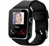 MOBIFOX Smart Watch compatible with all phone Smartwatch(Black Strap, FREE SIZE)