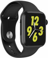 INDIRULERS W26 Smart Watch Smartwatch(Black Strap, Free)