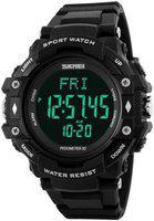 Skmei smartwatch 1180 black Digital Watch - For Men