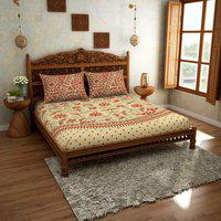 Spaces Cotton Bedsheet in Red Colour HomeTown