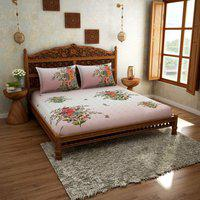 Spaces Cotton Bedsheet in Pink Colour HomeTown