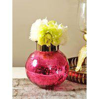Marvela Glass Candle Holder in Pink Colour HomeTown