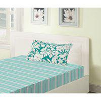 Emilia Cotton Single Bedsheets in Teal Colour Living Essence