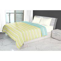 Emilia Double Dohar Lime Teal Cotton Dohars in Lime Teal Colour Living Essence
