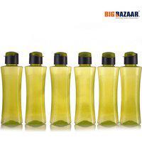 Fliptop hot and cold bottles (Set of 6) Plastic Fridge Bottles in Multi Colour Polyset