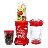 Blender &and Grinder With Big Mixing Jar Plastic Blenders &and Grinders in Red Colour Wonderchef