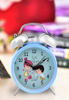 Turquoise Blue Metal Table Clock