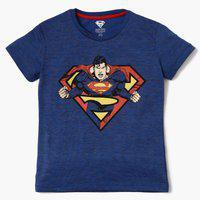 KIDSVILLE Superman Print Crew-Neck T-shirt