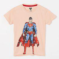 KIDS VILLE Superman Print Crew Neck T-shirt