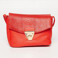 LAVIE Textured Sling Bag with Flap Closure