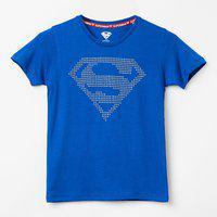 KIDSVILEE Superman Print Crew-Neck T-shirt