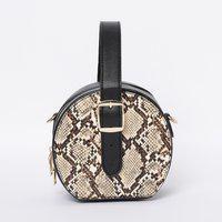 CODE Reptilian Pattern Circular Sling Bag