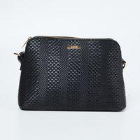 CODE Textured Zip-Closure Sling Bag