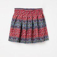 PEPPERMINT Printed Pleated A-line Skirt