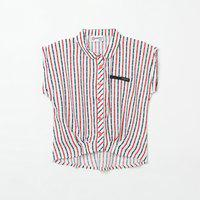 PEPPERMINT Striped Extended Sleeves Shirt