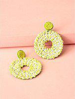 yellow handmade drop earring