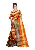 Orange Color Banarasi Art Silk Jacquard Saree (Aura Saree 104 Orenge)