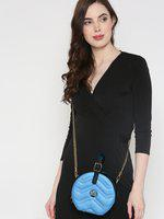 United Colors of Benetton Blue Quilted Handheld Bag