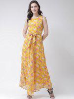 The Vanca Women Fit And Flare Yellow Dress