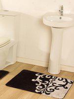 OBSESSIONS Brown & Beige Microfibre Printed Anti-Slip Bath Rug